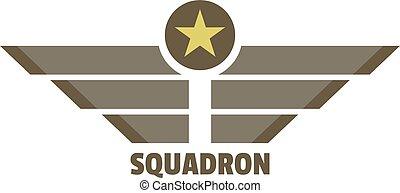 Squadron icon logo, flat style