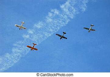 Squadron of Antique Aircraft - Squadron of Four Antique...