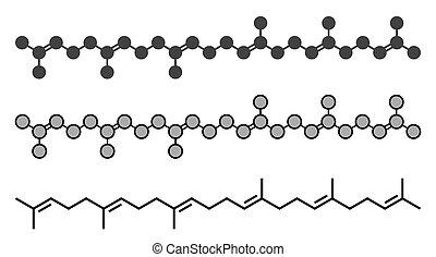 Squalene natural hydrocarbon molecule. Found in shark liver...