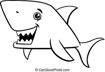 squalo, coloritura, fish, pagina