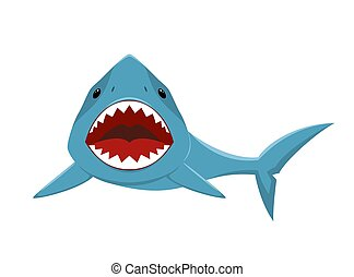 squalo, con, bocca aperta