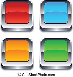 square 3d buttons.