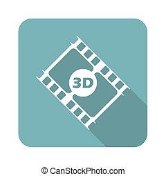 Square 3D movie icon