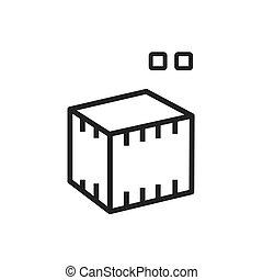 square 3D print icon