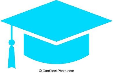 Square academic cap vector icon
