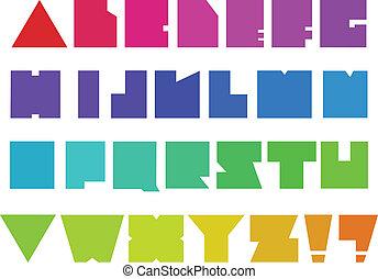 Square alphabet