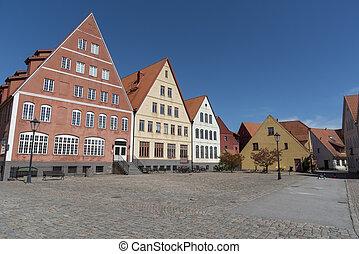 Square at Jakriborg in Sweden