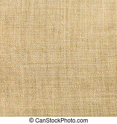 square background from brown linen fabric