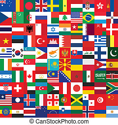 background made of flag icons