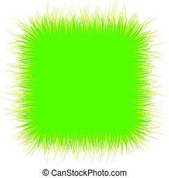 Square background with green grass.