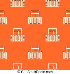 Square balcony pattern vector orange