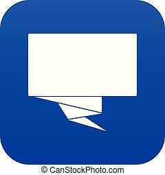 Square banner icon digital blue