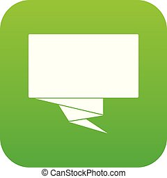 Square banner icon digital green