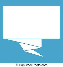 Square banner icon white