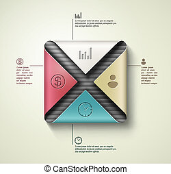 Square banner infographics
