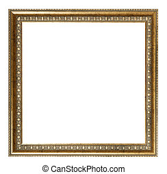 square baroque style golden wooden picture frame