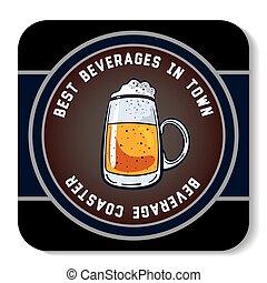 Square Beverage Coaster Color - Square beverage coaster...