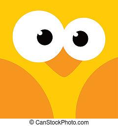 square bird face icon button