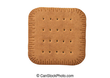 square biscuit cracker isolated on white background