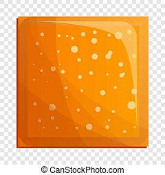 Square biscuit icon, cartoon style