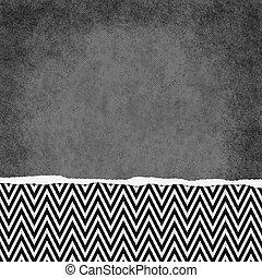 Square Black and White Zigzag Chevron Torn Grunge Textured ...