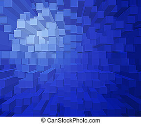 A background of square blocks at different heights