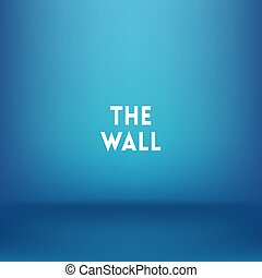 square blue blurred background vector. the wall text.