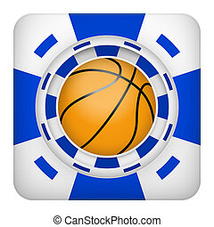 Square blue casino chips of basketball sports betting