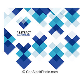 Square blue geometrical abstract background