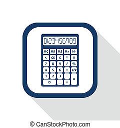 square blue icon calculator