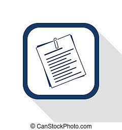 square blue icon document
