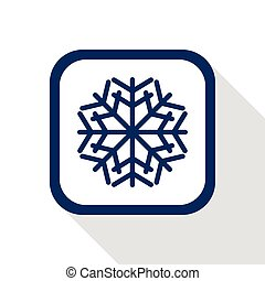 square blue icon snow flake