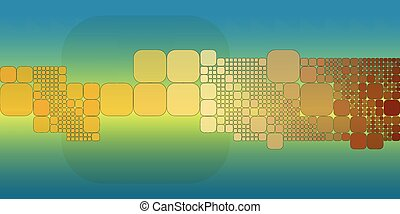 Square blue orange gradient geometrical abstract background