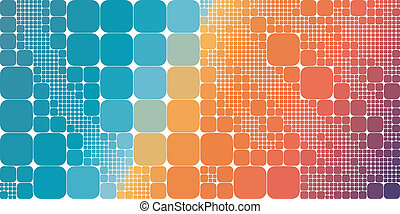 Square blue orange violet gradient geometrical abstract background