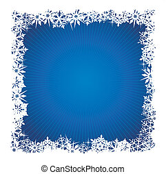 Square blue snowflake background