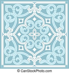 square blue vector tile pattern on a white background
