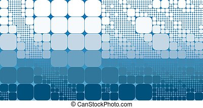 Square blue white gradient geometrical abstract background