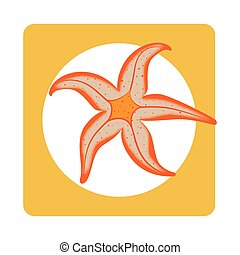 square border with Starfish aquatic animal