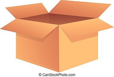 Square box icon, cartoon style