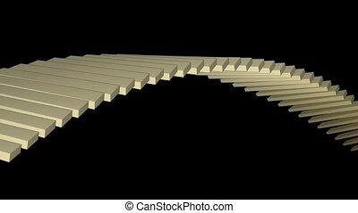 square box shaped arch bridge,math geometry array,conveyor...