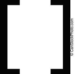 Square  Brackets symbol isolated on white background