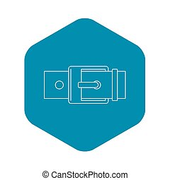 Square buckle icon, outline style