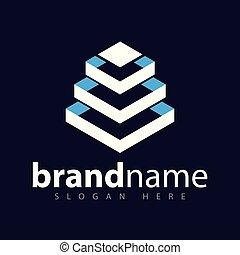 Square Build Logo vector stock template