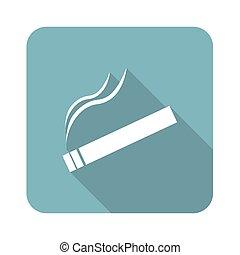 Square burning cigarette icon