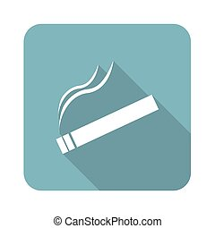 Square burning cigarette icon