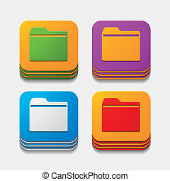 square button: folder