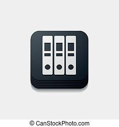 square button: folder