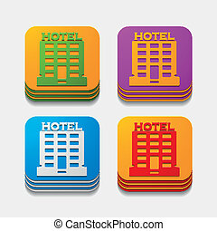 square button: hotel