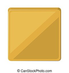 square button isolated icon design