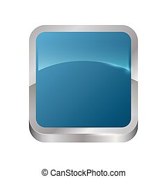 square button isolated icon